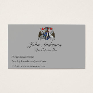 Coat of Arms - Two Griffins and Helmet Business Card