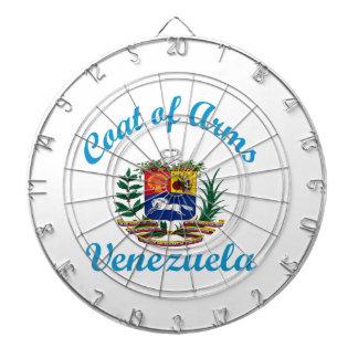 Coat Of Arms Venezuela Dartboard With Darts