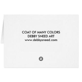 Coat of Many Colors Card