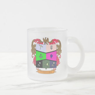 Coat of Soul of the religious melancholic girl Frosted Glass Coffee Mug