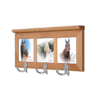 Coat Rack, equestrian, horse, wood Coat Rack