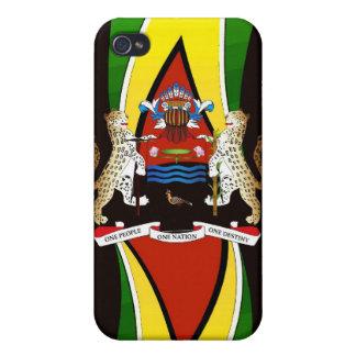 _Coat s_Guyanese de la bandera de brazos iPhone 4/4S Funda