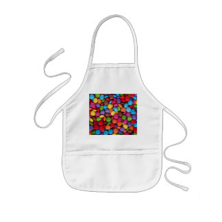 Coated Chocolate Candies in a Pile Kids' Apron