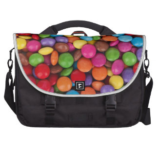 Coated Chocolate Candies in a Pile Laptop Computer Bag