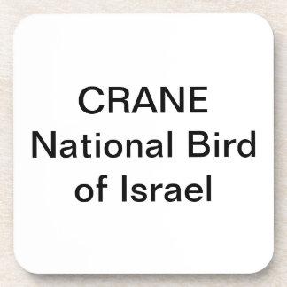 COATERScork - CRANE: National Bird of Israel Drink Coaster