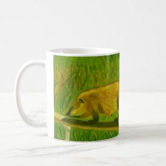 Coati mug (for left-handed users)