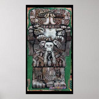 coatlicue, earth goddess poster