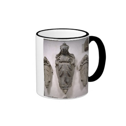 Coats of Arms from the Vecchietti Family (stone) Ringer Coffee Mug