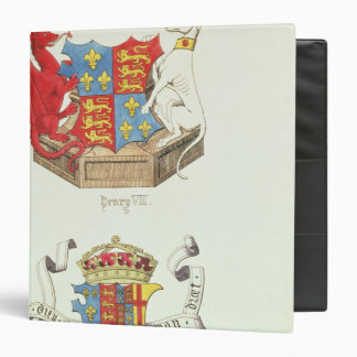 Coats of Arms of Henry VII  and Elizabeth of York Binder