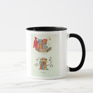 Coats of Arms of Henry VII  and Elizabeth of York Mug