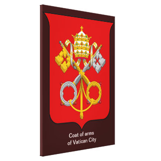 Coats of arms of the Holy See and Vatican City Canvas Print