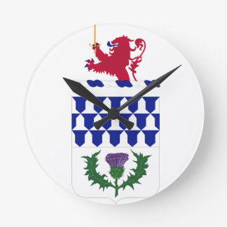 Coats of arms of U.S. Air Defense Artillery Regime Wall Clocks