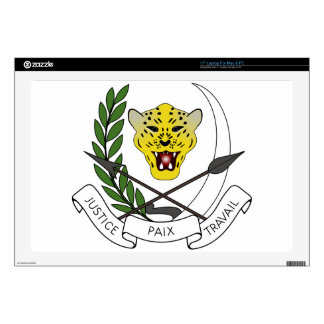 """Coats_of_arms_of_Zaire_(1971-1997) 17"""" Laptop Skins"""