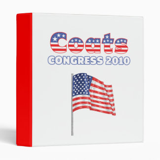 Coats Patriotic American Flag 2010 Elections 3 Ring Binders