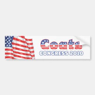 Coats Patriotic American Flag 2010 Elections Car Bumper Sticker