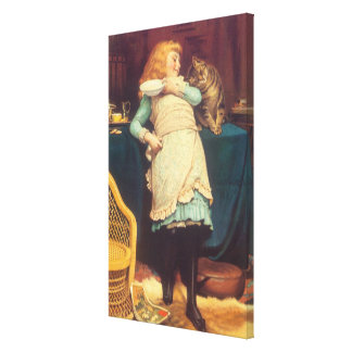 Coaxing Better Than Teasing Charles Burton Barber Canvas Print