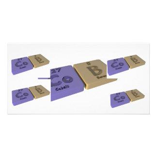 Cob as Co Cobalt and Ca Calcium Photo Card Template