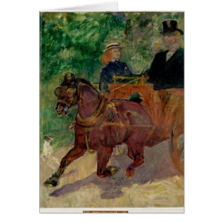 Cob Harnessed to a Cart, 1900 Card