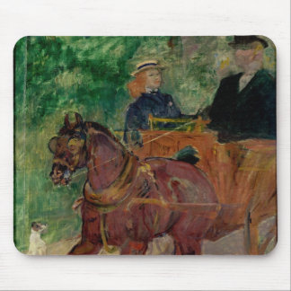 Cob Harnessed to a Cart, 1900 Mouse Pad