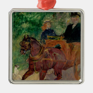 Cob Harnessed to a Cart, 1900 Christmas Tree Ornament