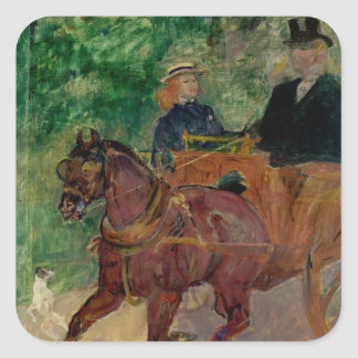 Cob Harnessed to a Cart, 1900 Stickers