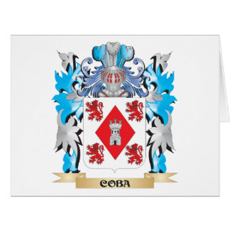 Coba Coat of Arms - Family Crest Large Greeting Card