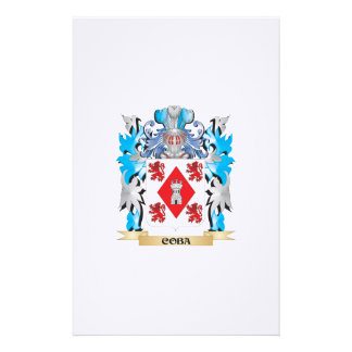 Coba Coat of Arms - Family Crest Customized Stationery