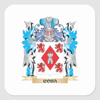 Coba Coat of Arms - Family Crest Square Sticker