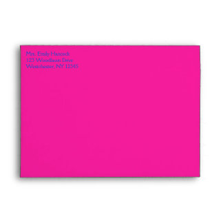 """Cobalt and Pink Damask A7 Envelope for 5""""x7"""" Sizes"""