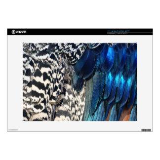 Cobalt and Ruffles Peacock Laptop Skin