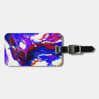 Cobalt and Violet Abstract Luggage Tag