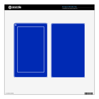 COBALT BLUE (a solid rich color) ~ Skin For Kindle Fire