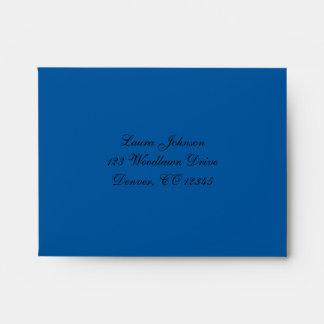 Cobalt Blue and Black Damask A2 Envelope for RSVP