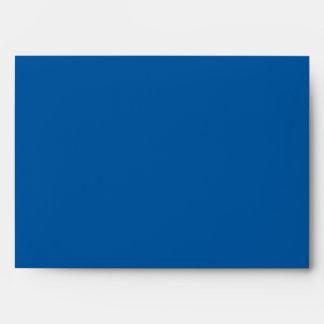 Cobalt Blue and Black Damask A7 Envelope for 5x7's