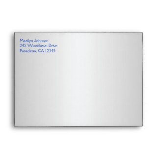 """Cobalt Blue and Silver Envelope for 5""""x7"""" Sizes"""