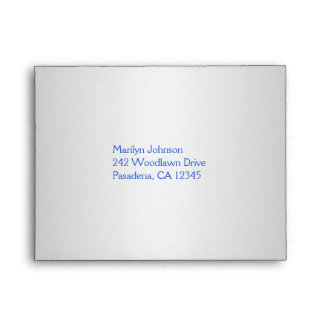 Cobalt Blue and Silver Envelope for Reply Card
