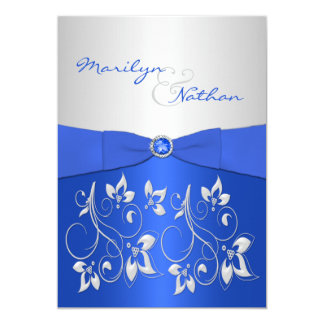 blue and silver wedding invitations & announcements | zazzle, Wedding invitations