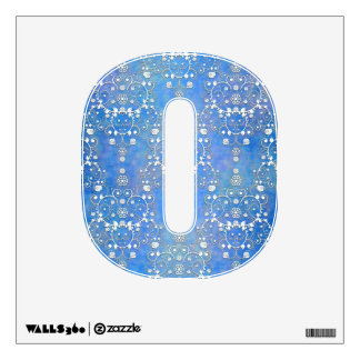 Cobalt Blue and White Damask Letter Wall Sticker
