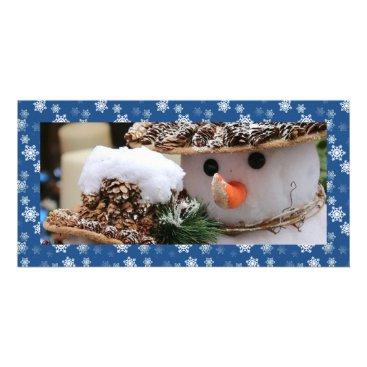 Disney Themed Cobalt Blue and White Snow Flurries Custom Card