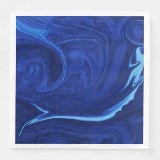 Cobalt blue background paper dinner napkin