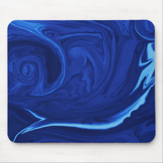 Cobalt blue background Textured Handmade Mouse Pad