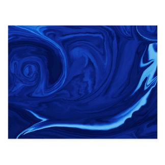 Cobalt blue background Textured Handmade Postcard