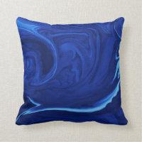 Cobalt blue background Textured Handmade Throw Pillow