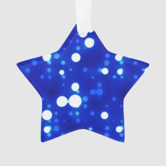 Cobalt Blue Bokeh Constellations Reversible Gray Ornament