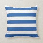 Cobalt Blue Bold Striped Pillow