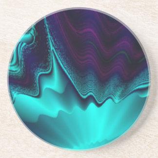 Cobalt Blue Fractal Drink Coaster
