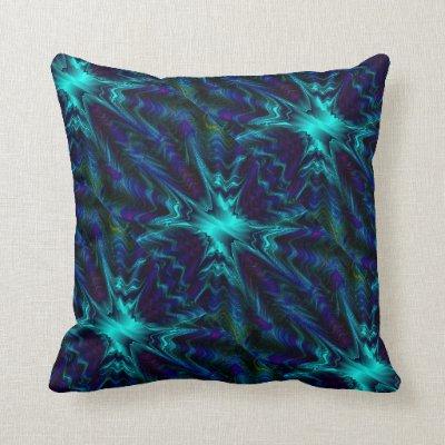 Cobalt Blue Fractal Pillows