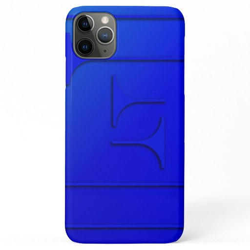 Cobalt Blue Geometric Design iPhone 11 Pro Max Case