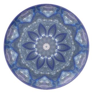 Cobalt blue glass dinner plate