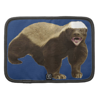 Cobalt Blue Honey Badger Don't Care Pattern Folio Planners